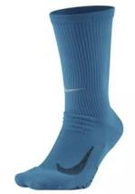 NIKE ELITE CUSHIONED RUNNING SOCKS Blue SX5460-702 4-5.5 - $16.79