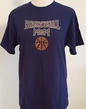 Gildan Rn 93846 ~Basketball Mom~ Rhinestone Embellished T-Shirt Women'S: Medium - $21.26