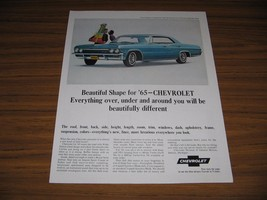 1964 Print Ad The 1965 Chevrolet Impala Sport Sedan 4-Door Chevy - $14.34