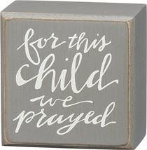 PBK Home Decor - For This Child We Prayed Baby Shower Gift - $13.95