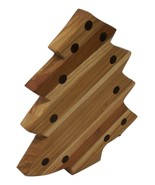 Christmas Tree Cutting Board, Holiday theme, Handcrafted from Mixed Hard... - $27.00