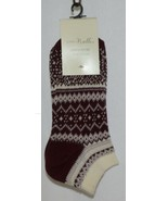 Simply Noelle Cream Maroon Blush Ankle Socks One Size Fits Most - $6.99