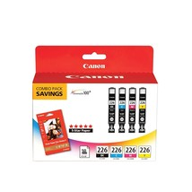 Canon CLI226 Color Pack with Photo Paper 50 Sheets Compatible to iP4820, MG5220, - $106.99