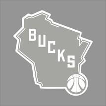 Milwaukee Bucks #5 NBA Team Logo 1Color Vinyl Decal Sticker Car Window Wall - $5.64+