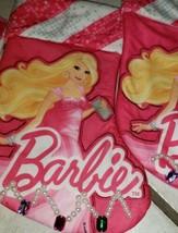 4 Vintage BARBIE Christmas Stockings PINK Bejeweled 2 Styles Puffy Pearl... - $37.13