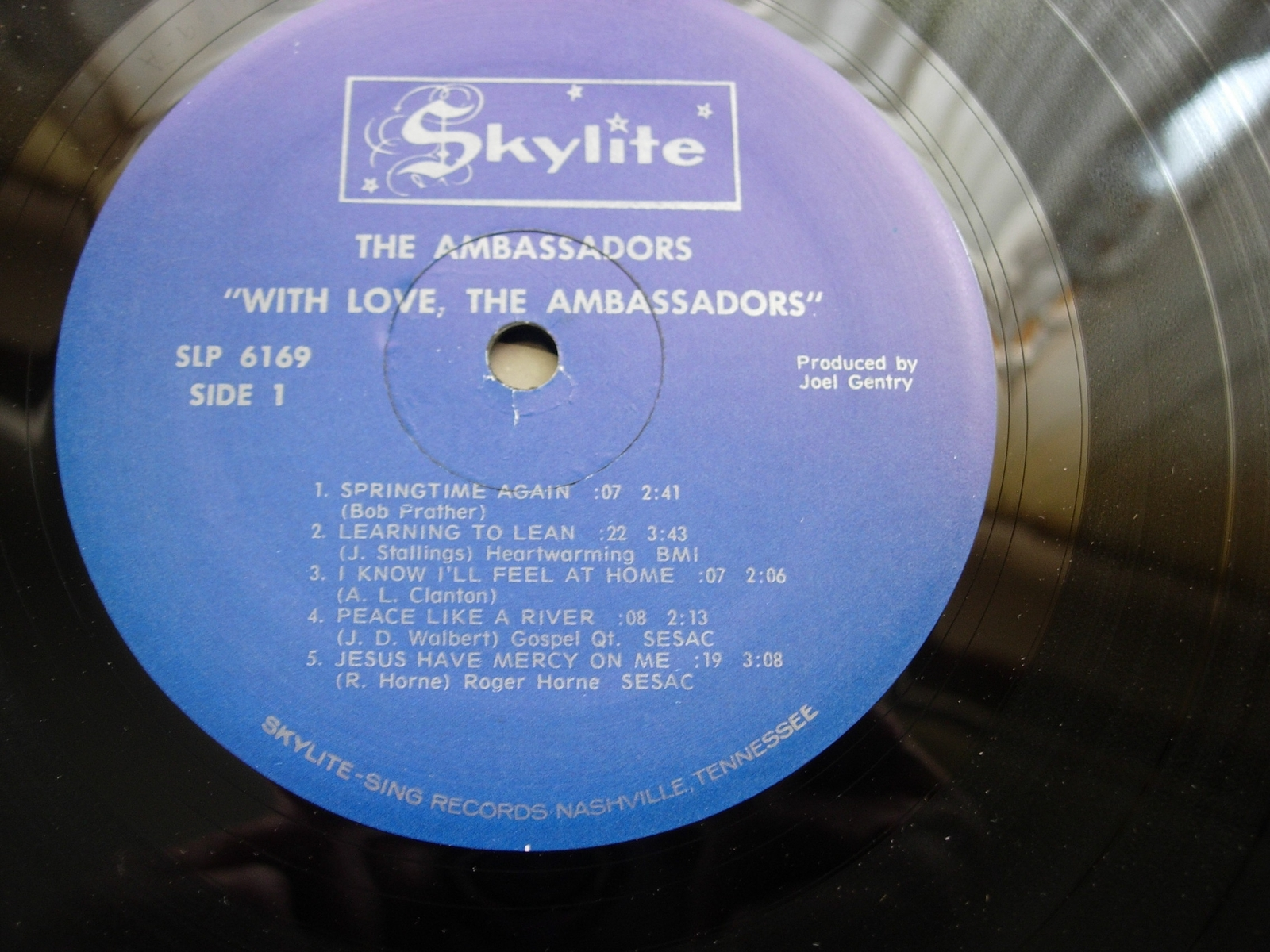With Love, THE AMBASSADORS - Skylite Records SLP 6169