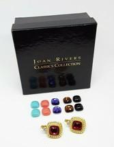 JOAN RIVERS Gold Tone Interchangeable Leverback Earrings 14 Piece Set Si... - $23.79