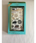 KATE SPADE NY PHONE CASE CLEAR WHITE FLOWERS GOLD ACCENTS & RHINESTONE 8... - $26.99