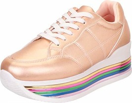 Cambridge Select Women's Retro 90s Low Top Lace-Up Striped (9 M US|Rose ... - $53.49