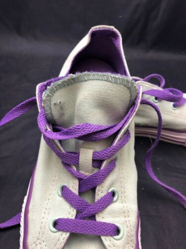 Converse All Star Double Tongue Sneaker Women's Size 4 Mint Green And Purple EUC