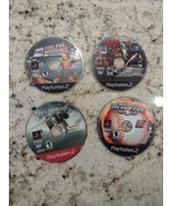 4 Playstation 2 PS2 Game Bundle 25 To Life, Air Combat 5, Fire Pro Wrest... - $17.77