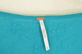 Free People top SZ S turquoise teal beaded long bell sleeves hippie boho gypsy image 7