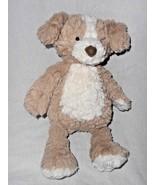 Aurora Tanner Putty Puppy Dog Plush Stuffed Animal Brown Cream Textured Fur - $16.81