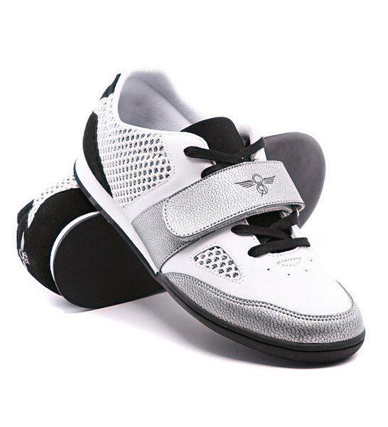 Creative Recreation Uomo Nero/Bianco/Argento Massino Moda Sneakers 13US 47 Nib