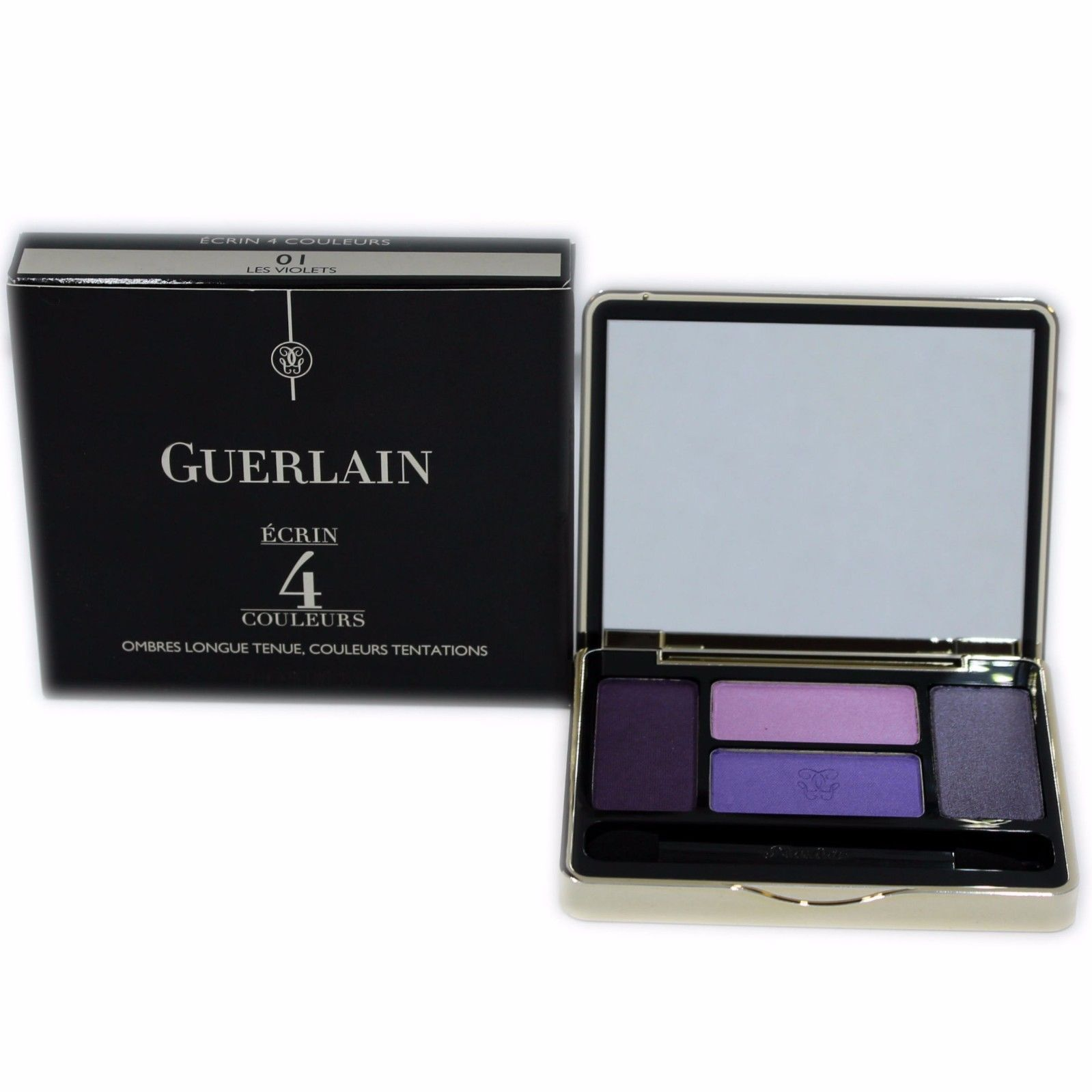 Primary image for GUERLAIN ECRIN 4 COULEURS LONG-LASTING EYESHADOWS 7.2G #01 LES VIOLETS-411456