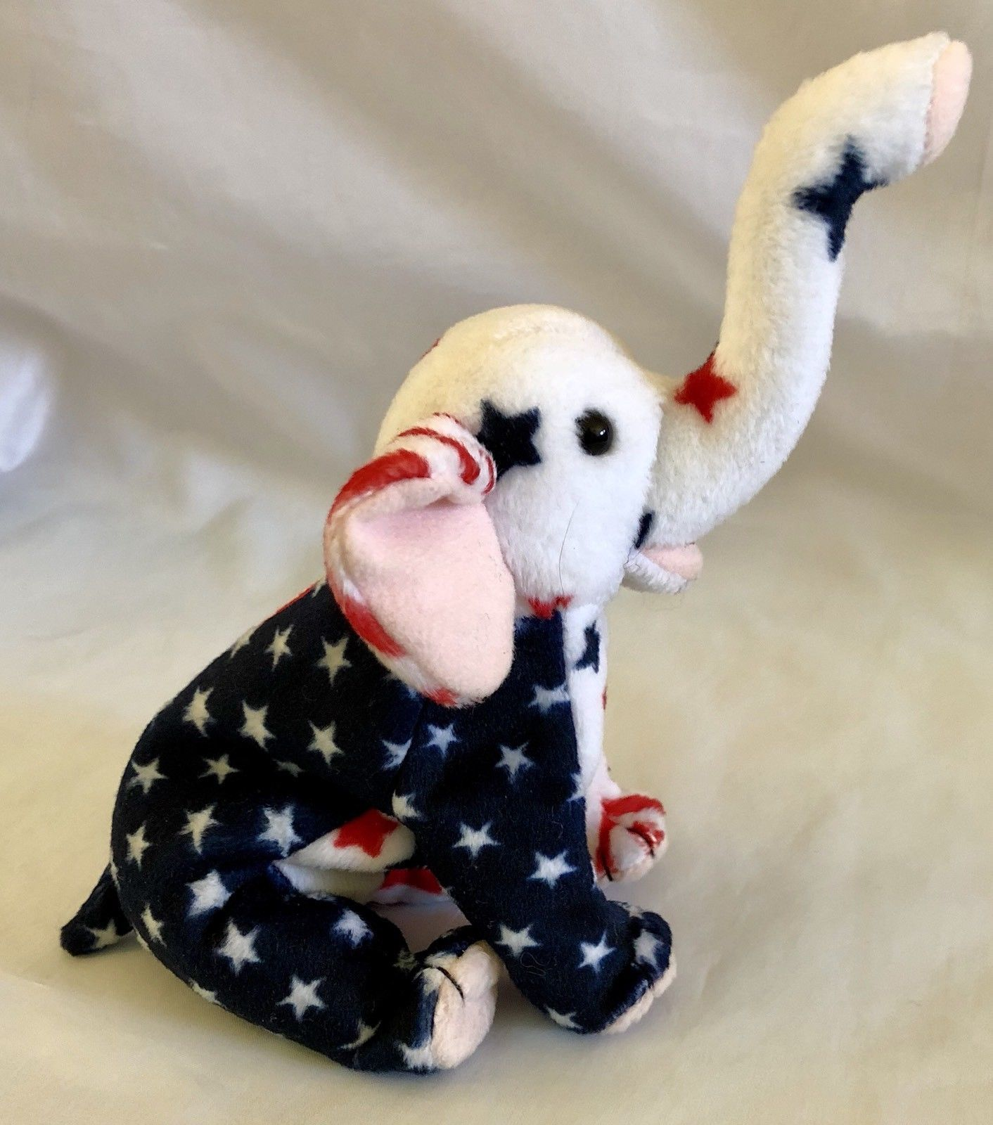 USA American Ty Beanie Babies Righty 2000 Patriotic Elephant Both Tags  Election df50c8e42d21