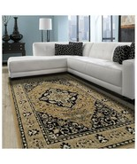 Superior Glendale Collection Gold Oriental Design 5' x 8' Area Rug 8mm P... - $69.95