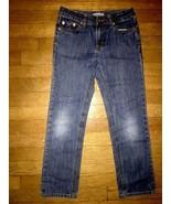 * RUUM stone wash skinny straight pants denim blue jeans 8 - $4.95