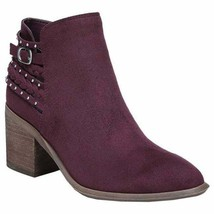 Carlos by Carlos Santana Women Ankle Booties Ashby Size US 8.5M Malbec - $24.94