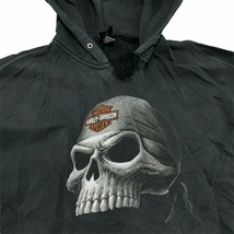 Heavily Distressed Harley-Davidson Men's Skull Graphic Hoodie Size XL Mo... - $49.99