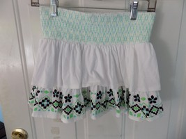 JUSTICE White Flower and Aztec Print Skort Size 12 Girl's EUC - $15.77