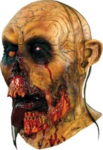 Deluxe Men's Adult Horror Walking Dead ZOMBIE TONGUE Halloween Mask - £49.48 GBP