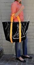 Marc By Marc Jacobs Shiny Designer Handbags Shoulder Purse Tote Black Orange M - $26.73