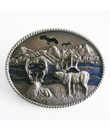 Men Belt Buckle Original Deer Oval Belt Buckle Gurtelschnalle Boucle de ... - $7.55+