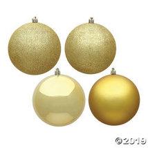"Vickerman 3"" Gold 4-Finish Ball Christmas Ornament - 16/Box - $32.75"