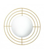"Cool House Mirror 24"" x 24"" Round Gold Modern Art Decorative Wall Hall B... - $89.57"