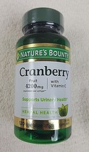 Nature's Bounty Cranberry Fruit 4200 mg Plus Vitamin C Softgels 120 ea E... - $7.87