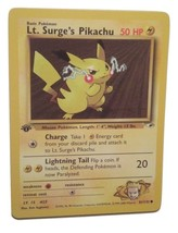 Pokemon Card - 1st Edition Lt. Surge's Pikachu (81/132) Gym Heroes Set *... - $4.99