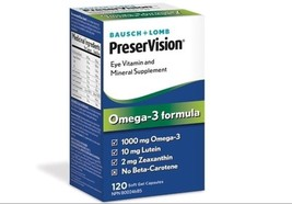 Bausch & Lomb PreserVision Eye Vitamin Mineral Omega 3 Formula 120 Soft ... - $29.97