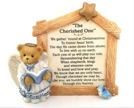 Vintage Enesco Cherished Teddies Cherished One Ceramic Christmas Bear Fi... - $4.99