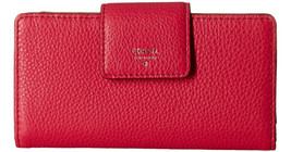 New Fossil Women's Sydney Tab Clutch Wallet Pomegranate Color - $54.99