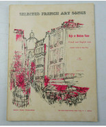 Vintage 1936 Selected French Art Songs High or Medium Voice Sheet Music ... - $32.00