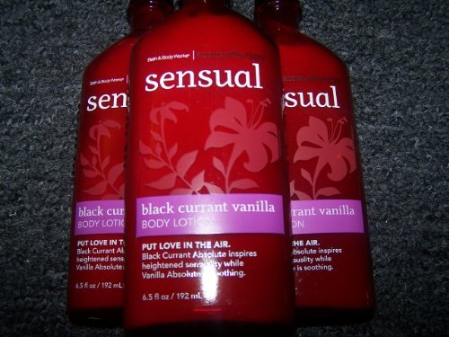 Bath & Body Works Aromatherapy Black Currant Vanilla Body Lotion (Lot of 3)