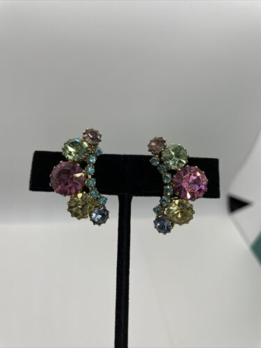 Primary image for Stunning Vintage Fruit Salad Weiss Signed Clip On Earrings