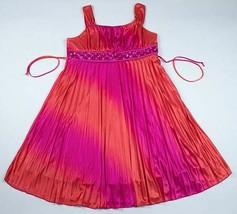 MY MICHELLE GIRLS 16  PINK ORANGE DRESS ELEGANT SPECIAL OCCASION PORTRAI... - $19.79