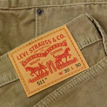NEW LEVI'S 511 MEN'S PREMIUM SLIM FIT CORDUROY JEANS PANTS KHAKI 511-2035 image 5