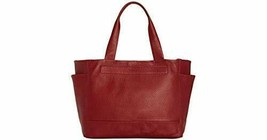 Kenneth Cole Womens Reversible Leather Stanton Tote (Burgundy/Black) - $62.90