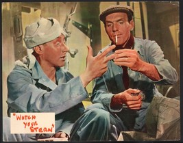 Watch Your Stern Lobby Card-Kenneth Connor and Eric Barker having a smoke. - $28.03