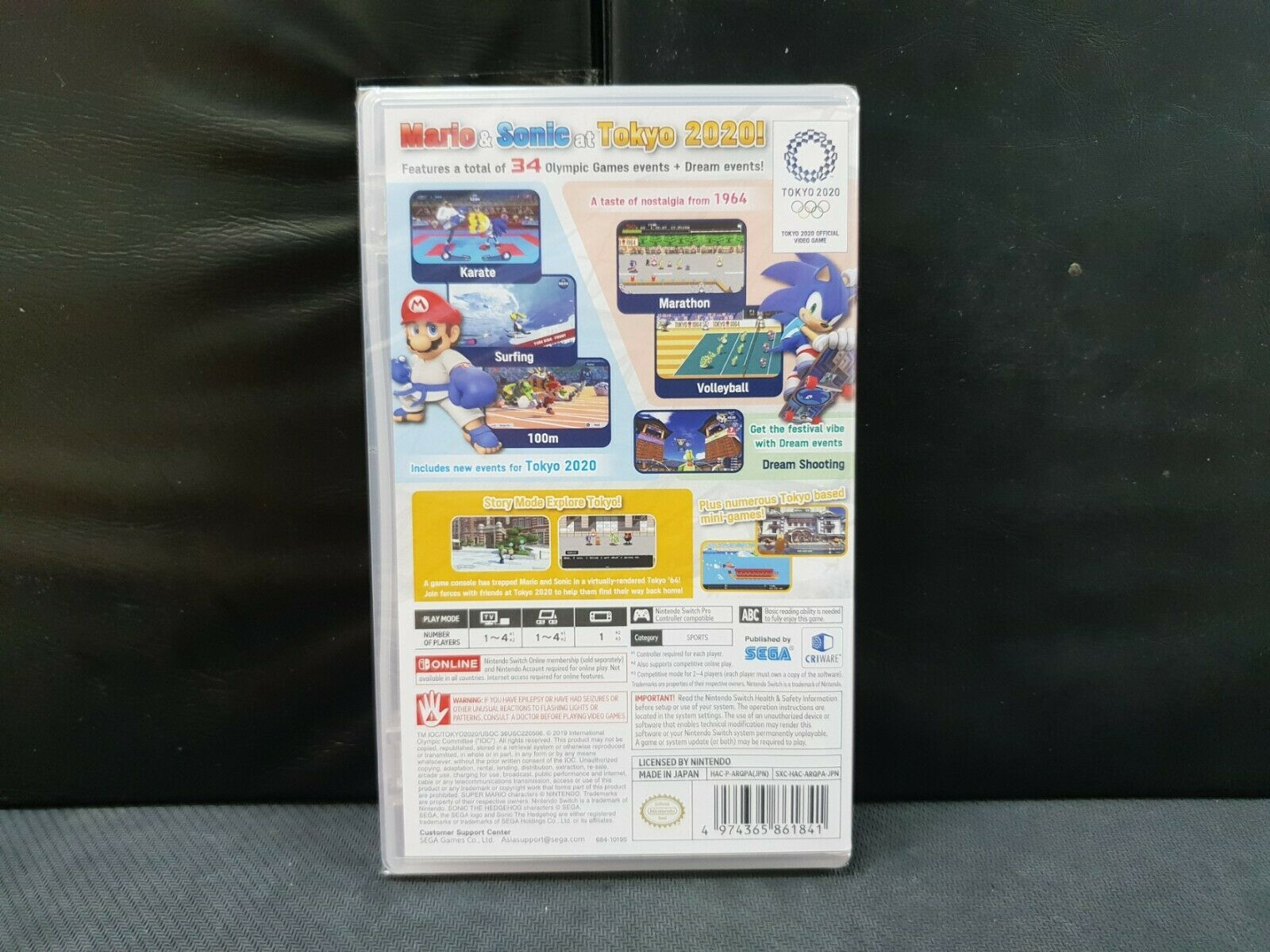 (ASIA ENGLISH) Nintendo Switch Mario & Sonic Olympic Games Tokyo 2020(Brand New) image 3
