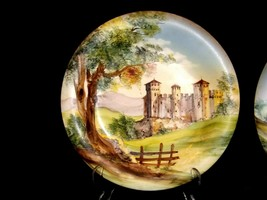 Bellagio Painted Italy Plates 10 inch AA19-1642 Vintage Pair image 2