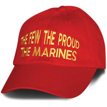 MARINE CORPS THE FEW THE PROUD EMBROIDERED RED HAT CAP  - $31.58
