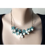 necklace branch with pearls. - $37.00
