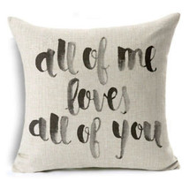 18'' Linen Sofa Cushion Cover Home DecorValentine's Day gift Pillow Case... - $5.92