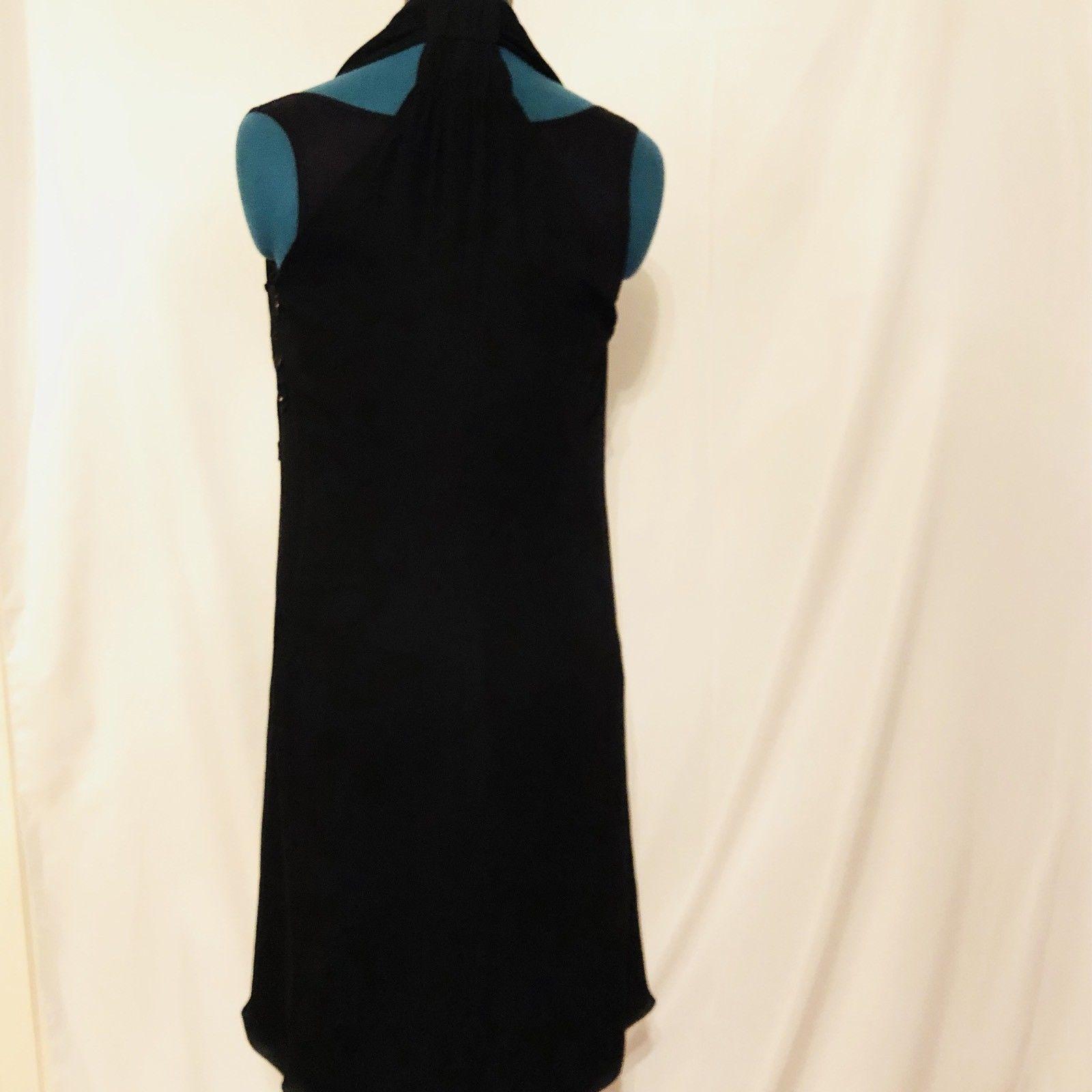 Armani Collezioni Black Halter Lined Dress Size 10 EU 46 Prom Evening image 4