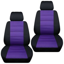 Front set car seat covers fits Chevy Equinox  2005-2020   black and purple - $72.99