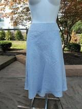 NWT ANN TAYLOR LT BLUE SILK PRINT SKIRT 8 - $24.99